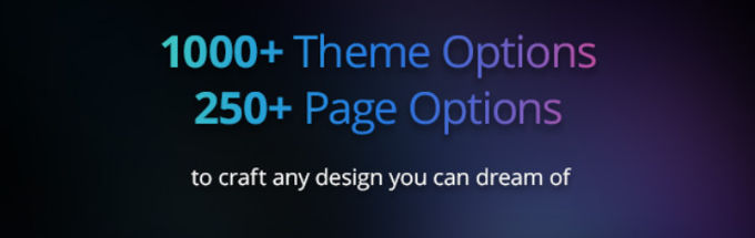 1000+ theme options en 250+ pagina-options
