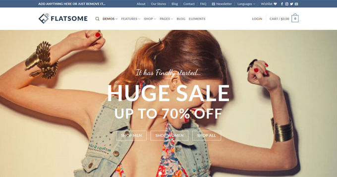 Best Woocommerce theme Flatsome