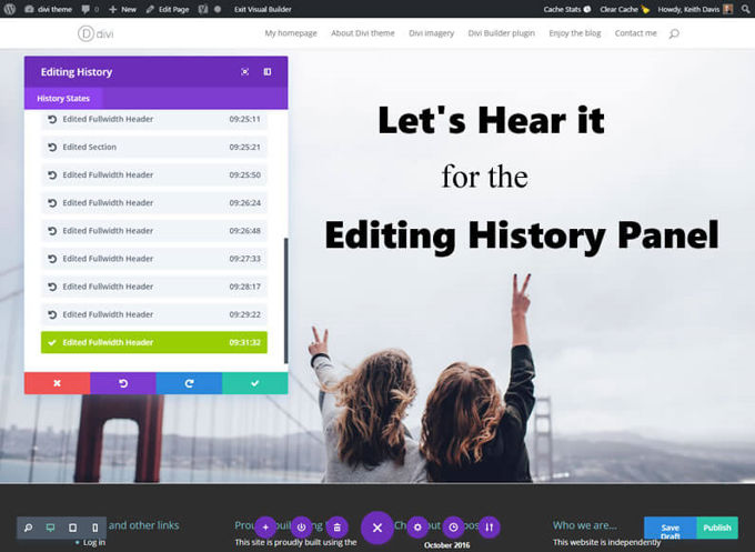 Divi revisions manager