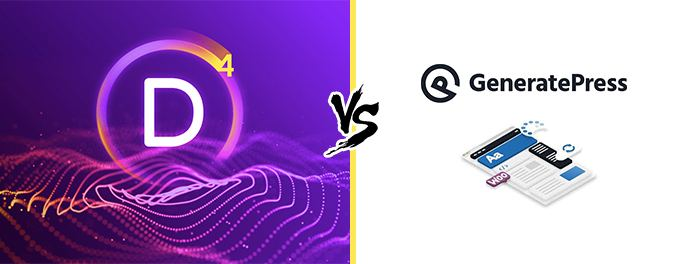Divi vs Generatepress comparison