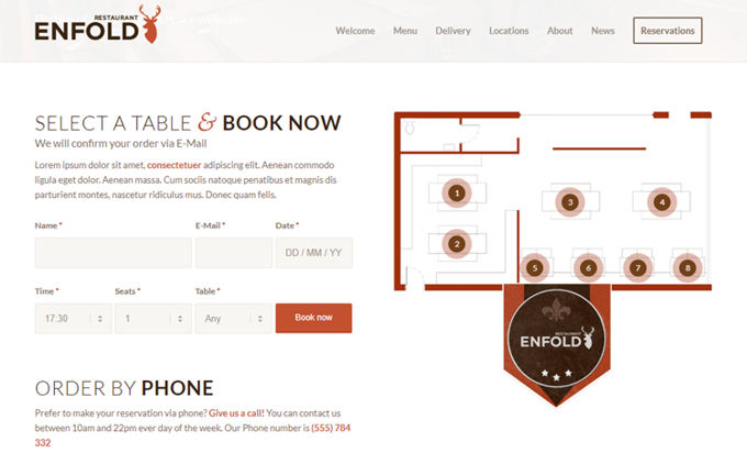 Enfold theme review WooCommerce bookings