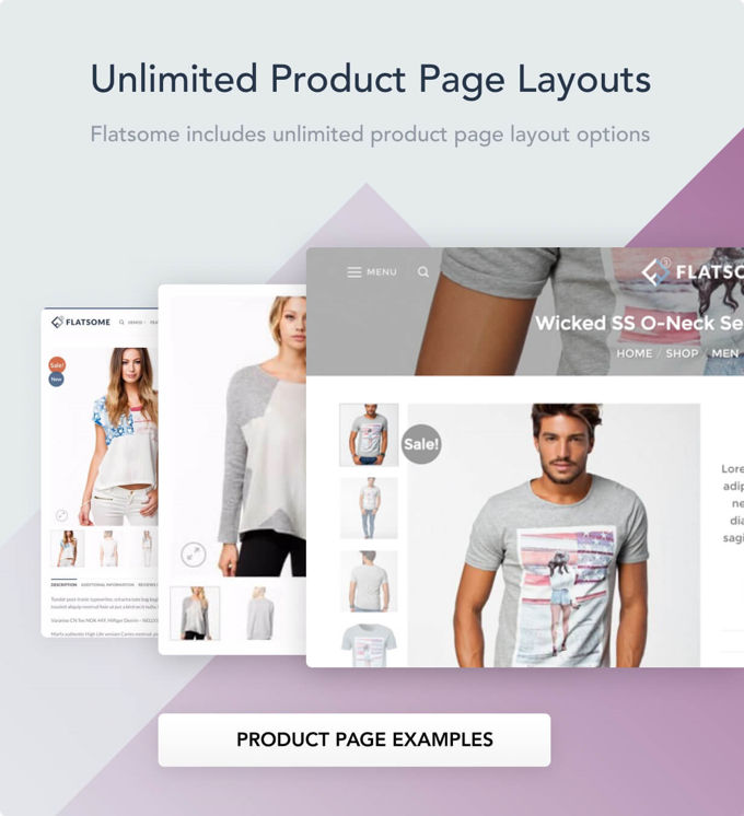 Flatsome Woocommerce unlimited product page layouts