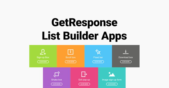 GetResponse review List Building Wizard