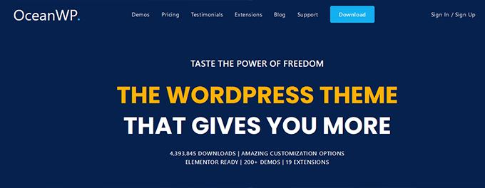 OceanWP fastest loading Wordpress theme review
