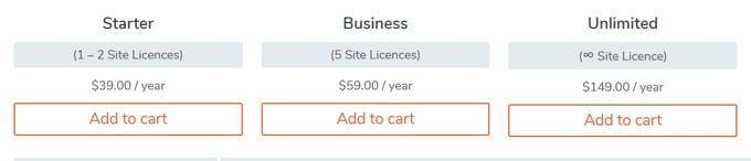 WP-Optimize Premium pricing
