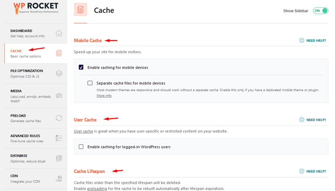 WP-Rocket review cache