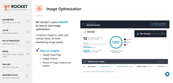 WP-Rocket optimize images